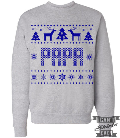 Papa Ugly Christmas Sweatshirt