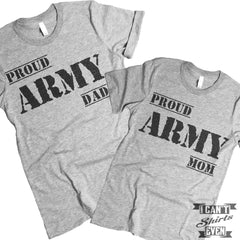 Proud Army Mom Dad Couples T Shirt.