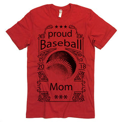 Proud Baseball Mom T-shirt
