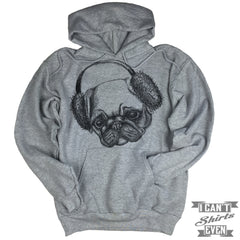 Pug Hoodie. Hooded Sweater.