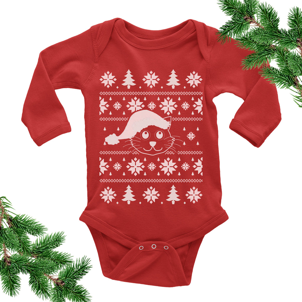 Kitty Onesie. Cat. Christmas Baby Outfit. – I Can't Even Shirts