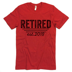 Retired Est. 2018 T-shirt
