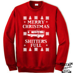 Christmas Vacation Unisex Sweater. Merry Christmas Shitter's Full. Unisex Sweatshirt. Ugly Christmas