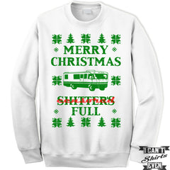 Merry Christmas Fleece Sweatshirt. Merry Christmas Shitter's Full Sweatshirt. Unisex