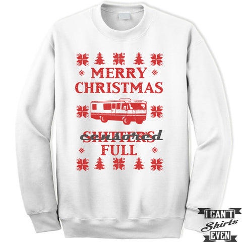 Merry Christmas Shitter's Full Sweatshirt. Christmas Vacation Shirt. Unisex Jumper. Fleece sweatshirt.