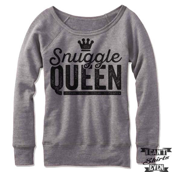 Snuggle Queen Off Shoulder Sweater