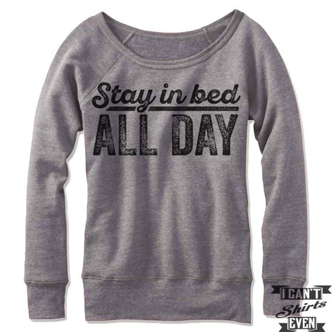 Stay In Bed All Day Off Shoulder Sweater