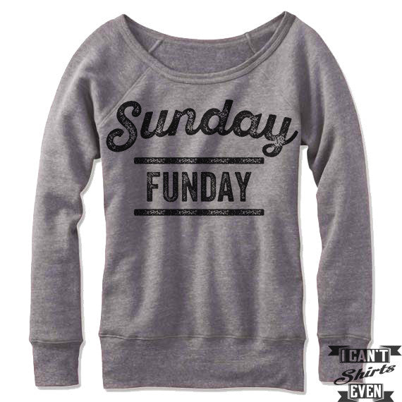 Sunday Funday Off Shoulder Sweater.