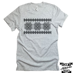 Vyshyvanka. Ukrainian Shirt. Cross Stitch Motive Ethnic Pattern Tshirt. Tryzub.