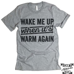 Wake Me Up When it's Warm Again T shirt.