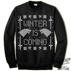 Ugly Christmas Sweater Winter Is Coming