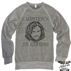 Ugly Sweater. Winter Is Coming Sweatshirt. Eco-Fleece Unisex Sweatshirt