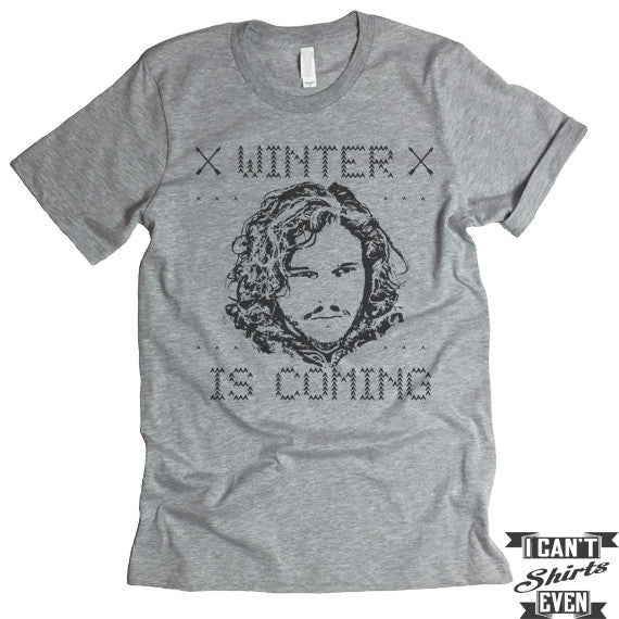 Winter Is Coming T shirt. Game Of Thrones Shirt. Unisex T-Shirt.
