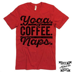 Yoga Coffee Naps T shirt.