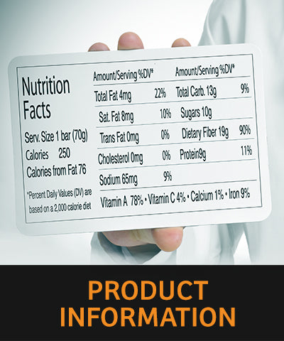 Youth Performance Foods | Product Information