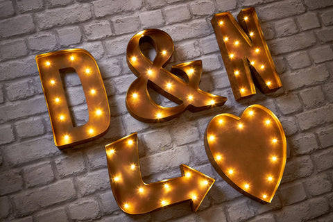 Marquee Carnival light up letters