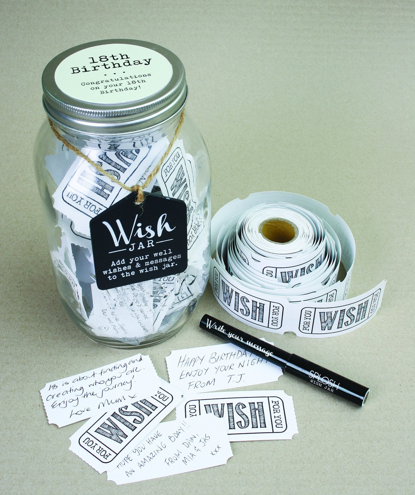 18th Birthday Wish Jar - Special Occasions Giftware