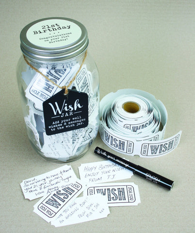 21st Birthday Wish Jar - Splosh - 1