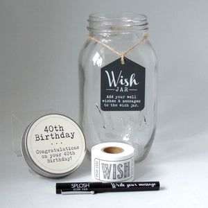 40th Birthday Wish Jar - Special Occasions Giftware