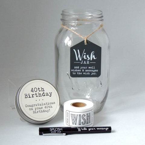 40th Birthday Wish Jar - Splosh - 1