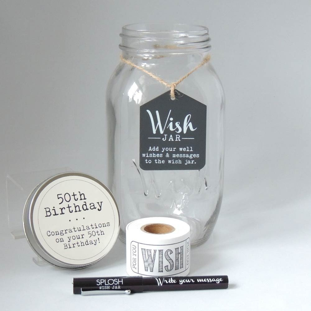 50th Birthday Wish Jar - Special Occasions Giftware