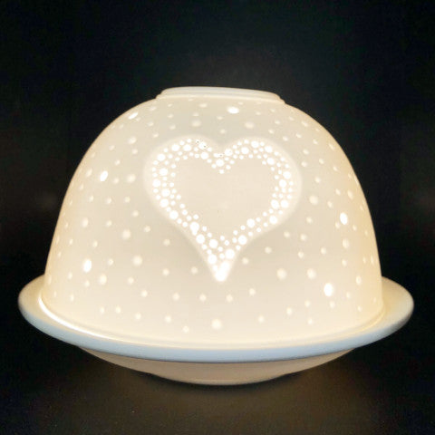 Heart Light Glow Porcelain Dome