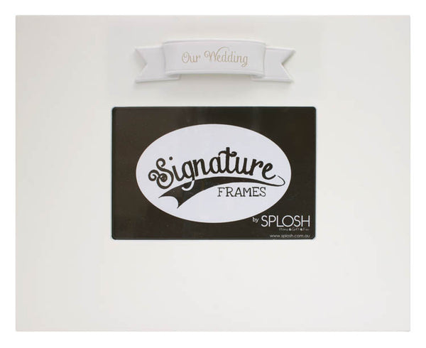 Wedding Signature Frame Splosh - Special Occasions Giftware