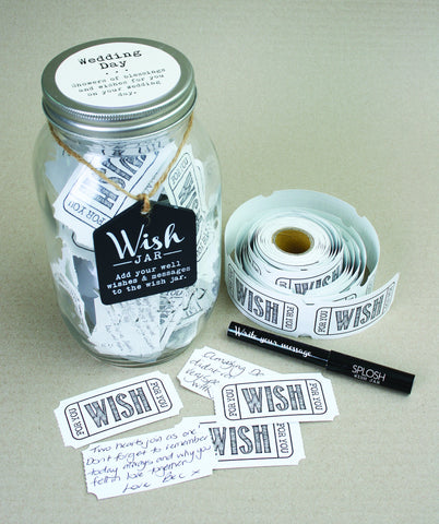 Wedding Day Wish Jar - Special Occasions Giftware