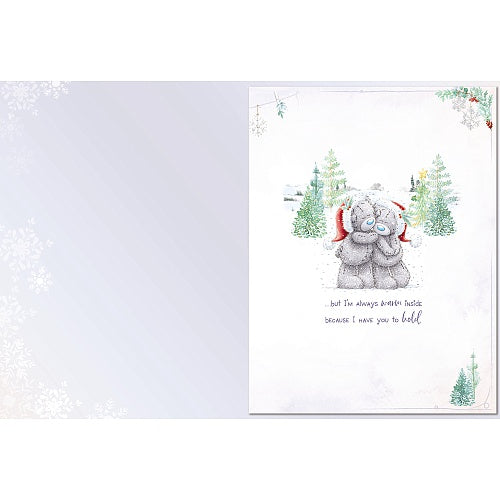 Christmas Card - Bears Hanging Wreath