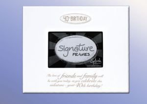 40th Birthday Signature Frame - Special Occasions Giftware