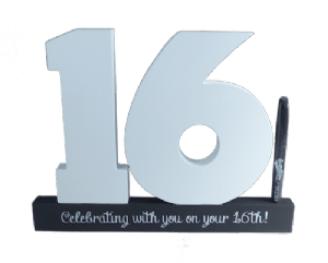 16th Birthday Signature Number Splosh - Special Occasions Giftware