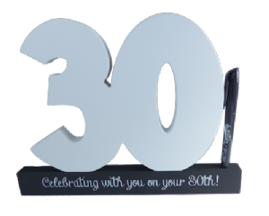 30th Birthday Signature Number - Special Occasions Giftware