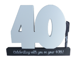 40th Birthday Signature Number - Special Occasions Giftware