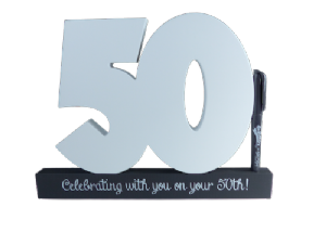 50th Birthday Signature Number - Special Occasions Giftware