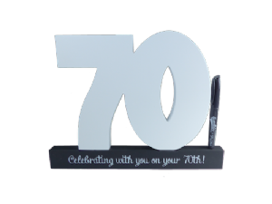 70th Birthday Signature Number - Splosh