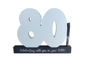80th Birthday Signature Number - Splosh