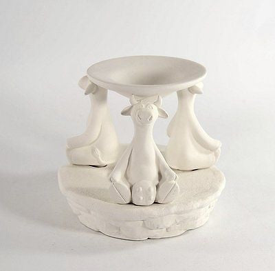 Cow Tart Burner Ready to Paint Ceramic Bisque Made to Order