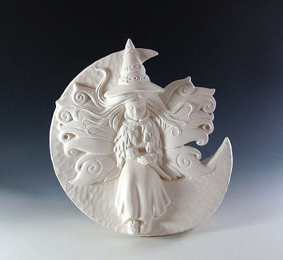 Samantha Fairy Witch Ready to Paint Ceramic Bisque Halloween made to order
