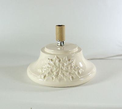 Replacement Ceramic Christmas Tree Base Medium Holly Made to Order White