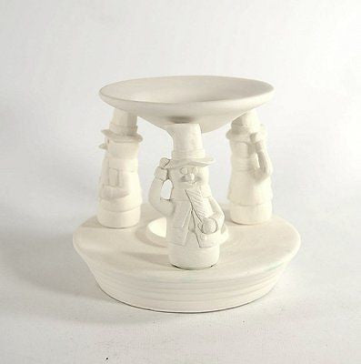 Snowman Tart Burner Ready to Paint Ceramic Bisque Made to Order