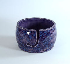 Yarn Bowl Knitting Crochet Handmade Grape Splash
