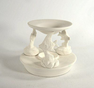 Angel Fish Tart Burner Ready to Paint Ceramic Bisque Made to Order