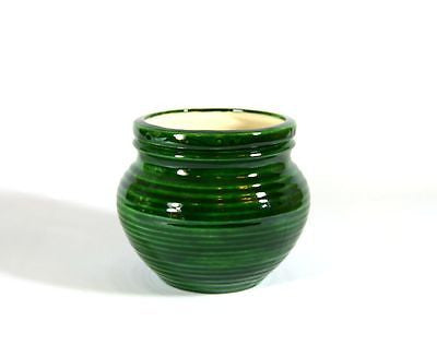 Medium Pottery Style Emerald Green