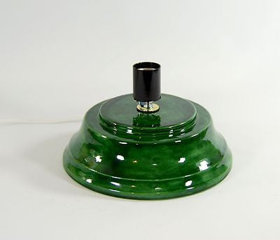 Replacement Ceramic Christmas Tree Base Concave Plain Green