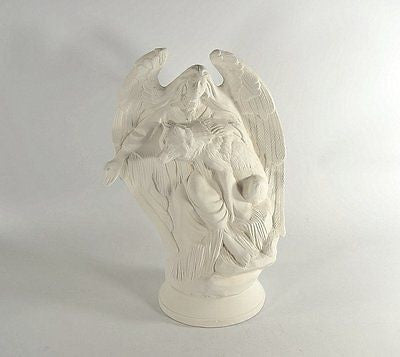 Angel with Wolf Native American Ready to Paint Ceramic Bisque