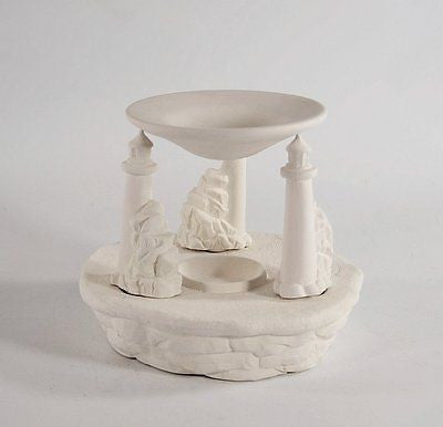 Lighthouse Tart Burner Ready to Paint Ceramic Bisque Made to Order