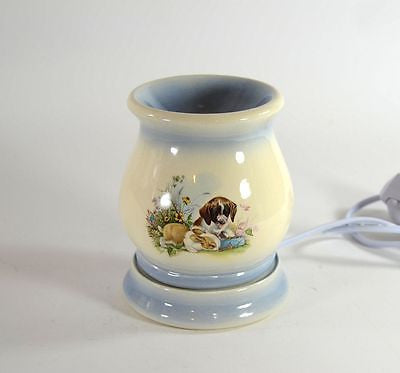 Electric Tart Burner Oil Warmer Bunny and Puppy Motif