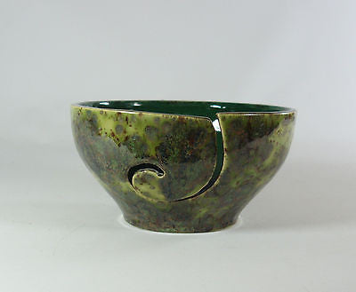 Yarn Bowl Knitting Crochet Pagoda Green