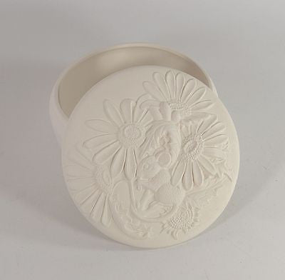Kinzie Molds Trinket Box Round Container Choice of Lids Ready To Paint Pottery