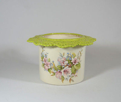 Tall Lace Planter Floral C13